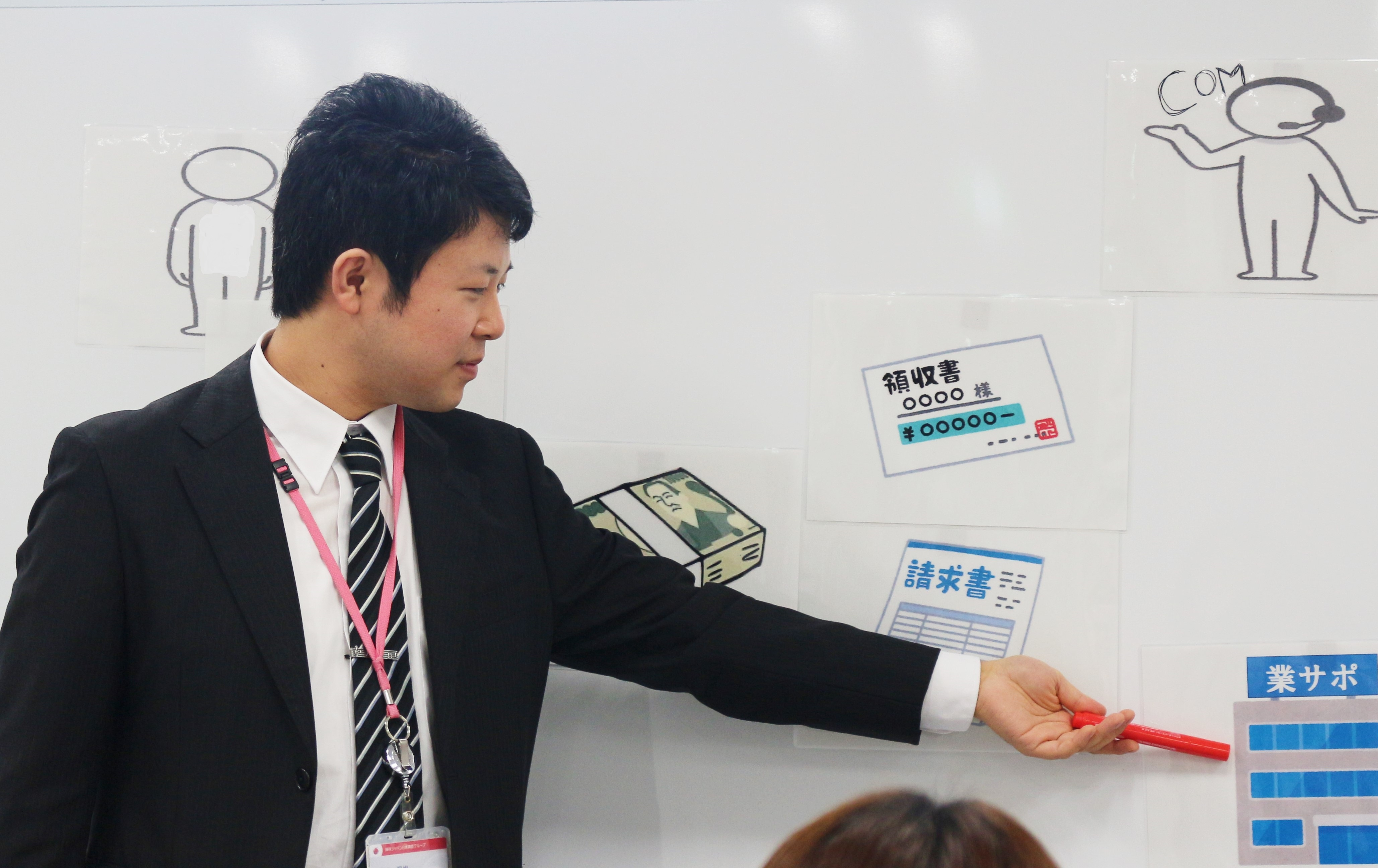 福田さん・ホワイトボード