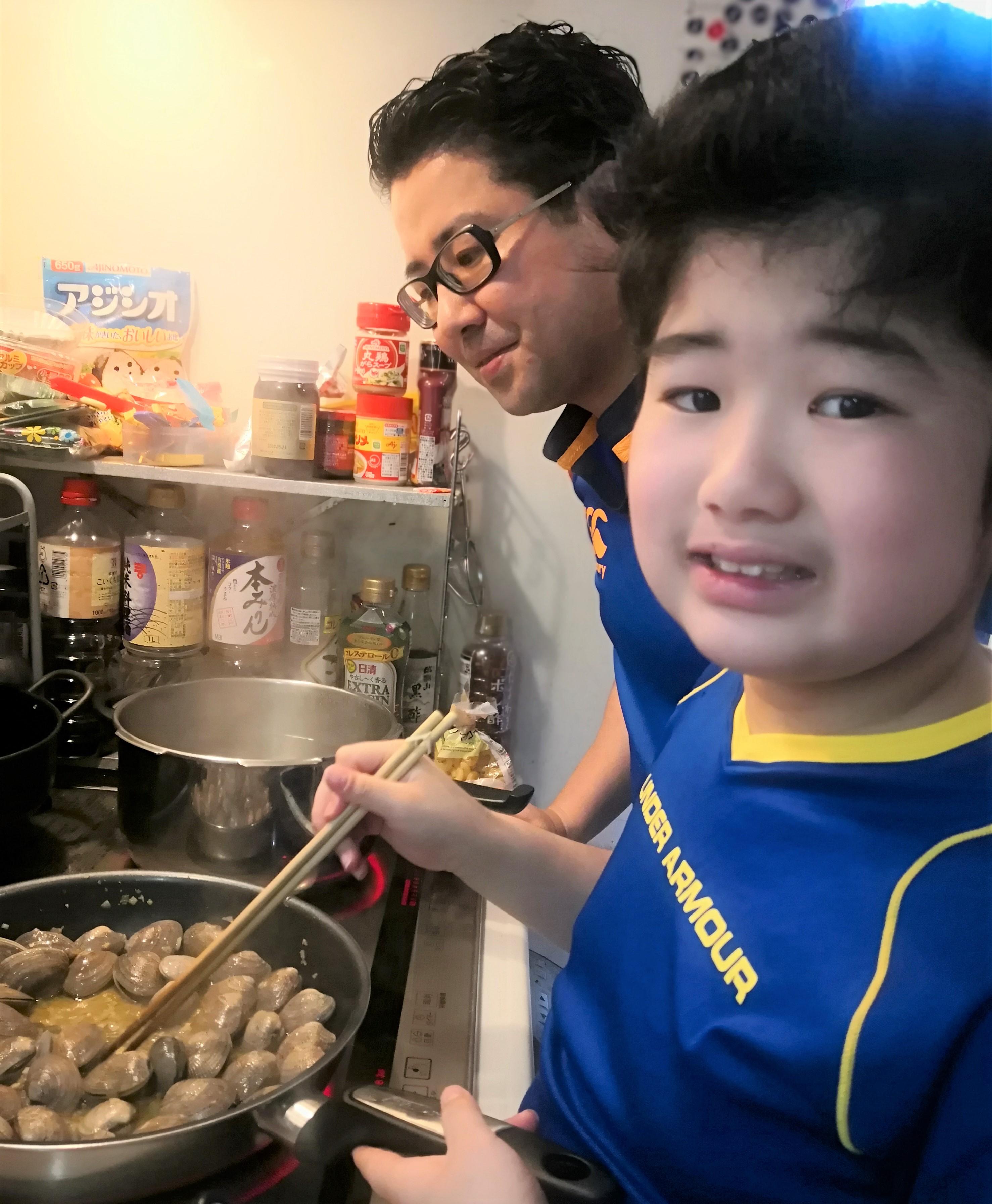 福薗さん・お子さん・料理